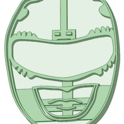 Download 3D printing files Power Ranger Red cookie cutter, osval74