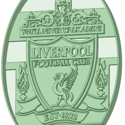 Impresiones 3D Liverpool cookie cutter, osval74