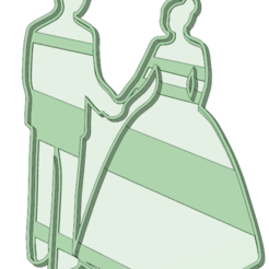Download 3D printing models Bride and groom cookie cutter, osval74