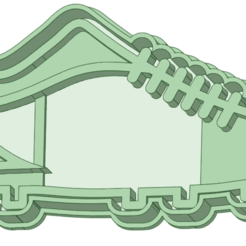 botin_e.png Download STL file Soccer boot with contour and cookie cutter seal • Template to 3D print, osval74