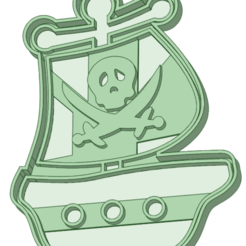 Download 3D print files Pirate ship cookie cutter, osval74