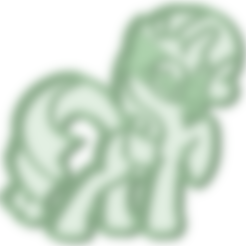 Download STL file My Little Pony 2 cookie cutter, osval74
