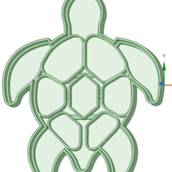 Download 3D printing designs Turtle cookie cutter, osval74