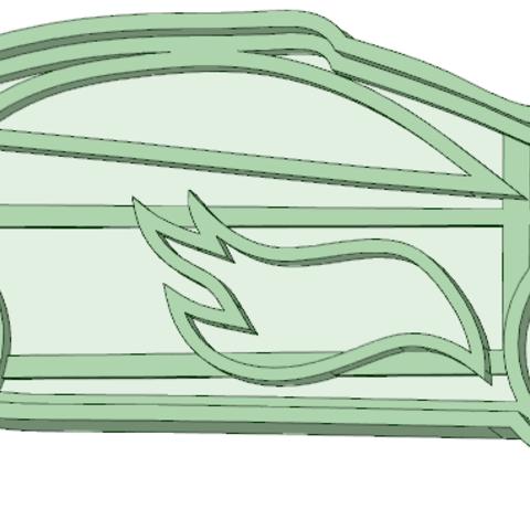 Descargar archivos 3D Auto hot wheels cookie cutter, osval74