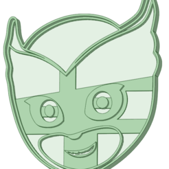 Download 3D printing files Owlette face cookie cutter, osval74