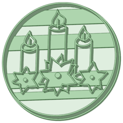 VN_e.png Download STL file Christmas candles cookie cutter • 3D print design, osval74