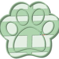 STL Footprint 2 Paw Patrol cookie cutter, osval74