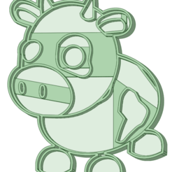 Cow_e.png Download STL file Cow Cookie Cutter • Template to 3D print, osval74