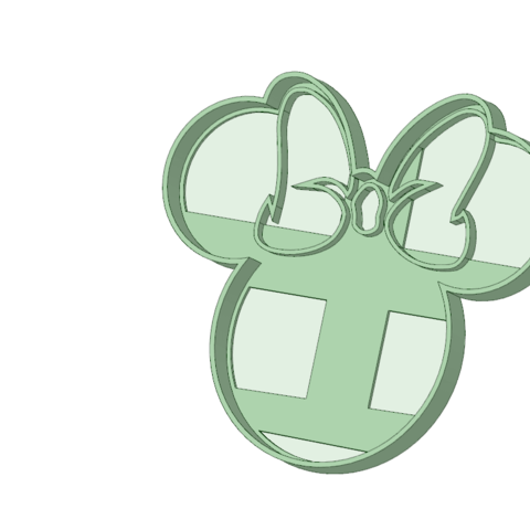 3D printing model Minnie contorno cookie cutter, osval74
