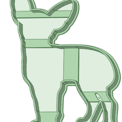 Chihuaua_e.png Download STL file chihuahua vector cookie cutter • 3D printer object, osval74