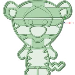 Tiegger bebe.png Télécharger fichier STL Coupe-biscuits pour bébés tigres • Modèle imprimable en 3D, osval74
