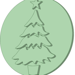 Pino_e.png Download STL file Pine only stamp 60mm • 3D printer template, osval74