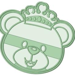 3D printer files Bear king cookie cutter, osval74