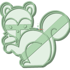 STL files Squirrel cookie cutter, osval74