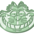 Download 3D printing templates Cheshire cat cookie cutter, osval74