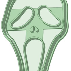 Scream.png Download STL file Scary movie with cookie cutter outline • 3D printing design, osval74