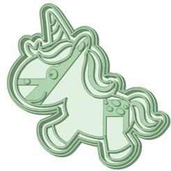 unicornio_e.png Descargar archivo STL Unicornio 8 cookie cutter  • Objeto para imprimir en 3D, osval74