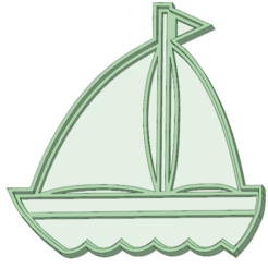 STL files Sailboat cookie cutter, osval74