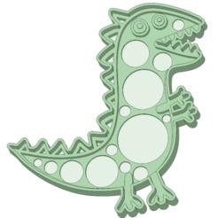 Descargar archivo 3D Dino Peppa Pig cookie cutter, osval74
