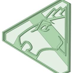 Descargar archivos STL Blue Dino Charge Ranger Cookie cutter, osval74