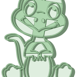 Dino 10_e.png Download STL file Dinosaur 10 cookie cutter • 3D printing design, osval74