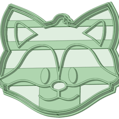 Zorro cara.png Download STL file Fox face contour and cookie cutter marker • 3D printer object, osval74