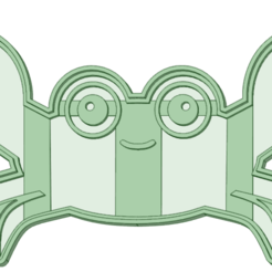 STL file Crab cookie cutter, osval74