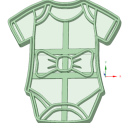 Download STL files Baby body with cookie cutter bow, osval74
