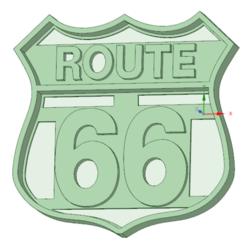 Route 66 - copia.png Télécharger fichier STL Route 66 Voitures à l'emporte-pièce • Design à imprimer en 3D, osval74