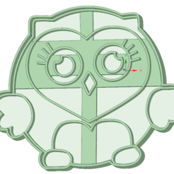 3D printing model Owl cookie cutter, osval74