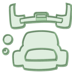 Jepp Fondant_e.png Download STL file Fondant Children's Jeep 90mm • Model to 3D print, osval74