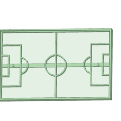 Download 3D printing templates Soccer field cookie cutter, osval74