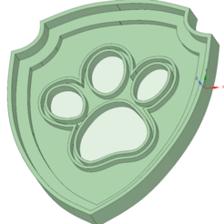 STL files Footprint Paw Patrol cookie cutter, osval74