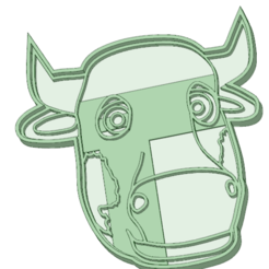 STL Cow cookie cutter, osval74