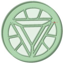 Imprimir en 3D Iron man escudo cookie cutter, osval74
