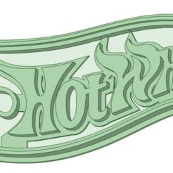 hot whels logo.png Download STL file Hot wheels logo cookie cutter • 3D print design, osval74