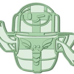 Robot_e.png Télécharger fichier STL Robot coupeur de biscuits • Plan pour impression 3D, osval74