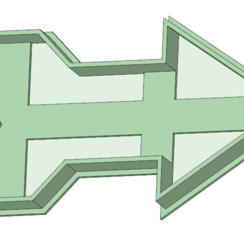 3D print model Arrow 1 cookie cutter, osval74