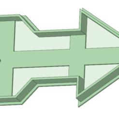 Modèle 3D Flèche 1 emporte-pièce, osval74