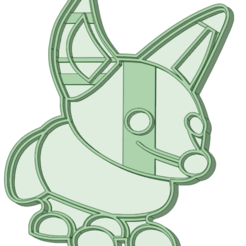 Fox_e.png Download STL file Fox Cookie Cutter • 3D printable object, osval74
