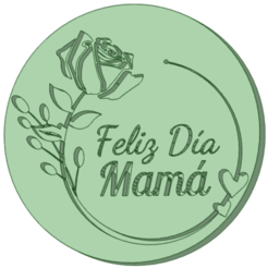 Feliz dia mama 1_e.png Download STL file Happy day mom 1 texturizer • Model to 3D print, osval74
