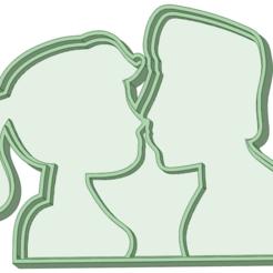 Télécharger STL Les petits amis embrassent l'emporte-pièce à l'emporte-pièce, osval74
