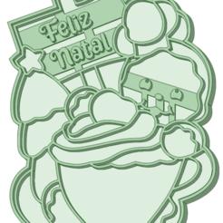 Galleta navideña_e.png Télécharger fichier STL Joyeux Noël à l'emporte-pièce • Design imprimable en 3D, osval74