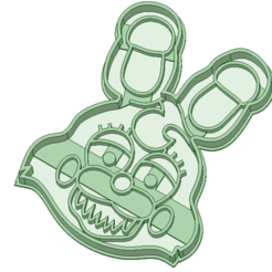 3D print model five nights at freddy's cookie cutter, osval74