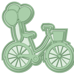 Bici globos_e.png Download STL file Bicycle with cookie cutter balloons • 3D printer design, osval74