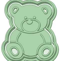 Osito 4cm_e.png Download STL file Bear 4cm contour and marker • 3D printable template, osval74