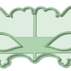 4_e.png Télécharger fichier STL Masque de carnaval 2 moule à biscuits • Plan imprimable en 3D, osval74