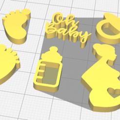 baby kit.png Télécharger fichier STL Timbre sur le kit de douche pour bébé • Plan pour imprimante 3D, osval74