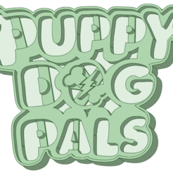 Logo_e.png Download STL file Puppy dog Logo cookie cutter • 3D printing model, osval74