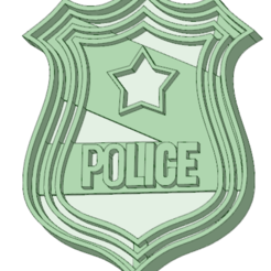 Download 3D printing files Police shield cookie cutter, osval74